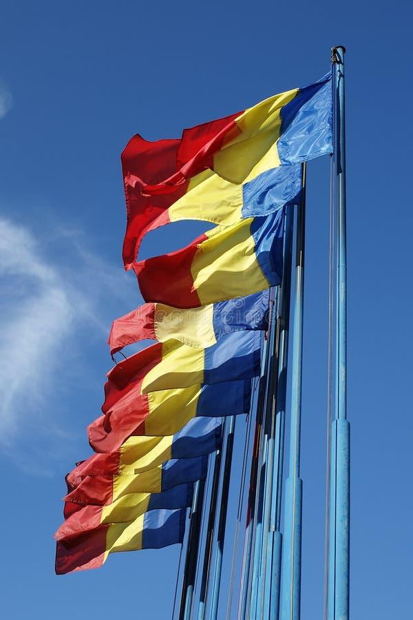 Indicadores de Rumania imágenes de archivo libres de regalías