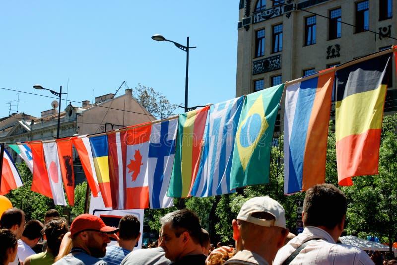 Indicadores del mundo Disfrute de una gama de imágenes libres de la bandera de los países diferentes imagenes de archivo