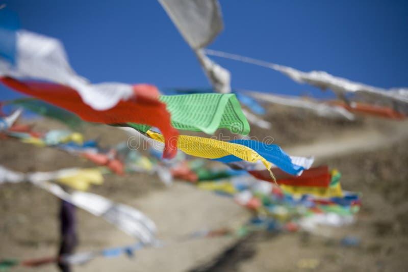 Indicadores del rezo en montañas fotos de archivo libres de regalías
