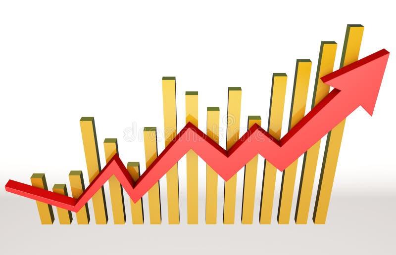 Indicadores económicos ilustración del vector