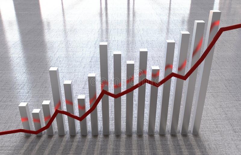 Indicadores económicos stock de ilustración