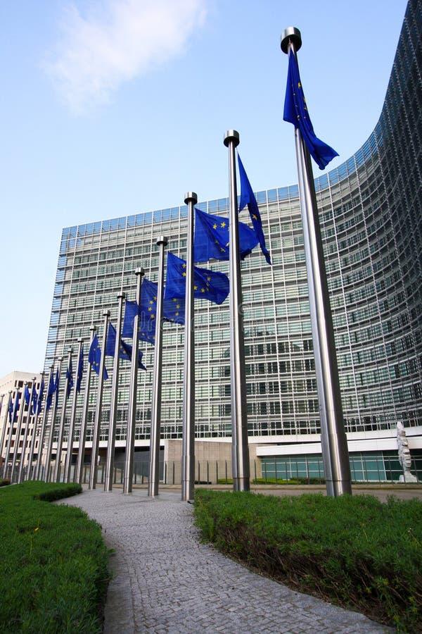Indicadores europeos en Bruselas fotografía de archivo