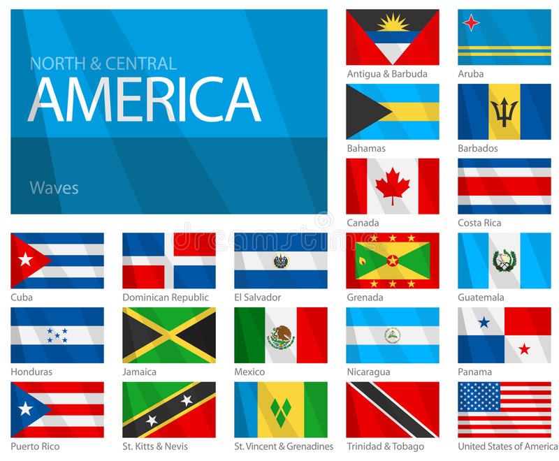 Indicadores que agitan del norte y de países centroamericanos libre illustration