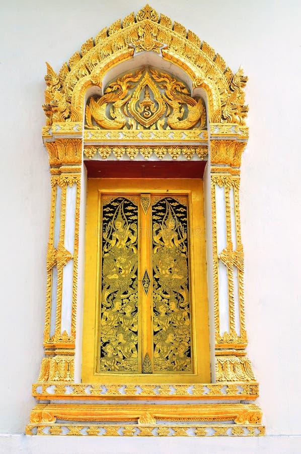 Indicadores tailandeses do templo fotografia de stock