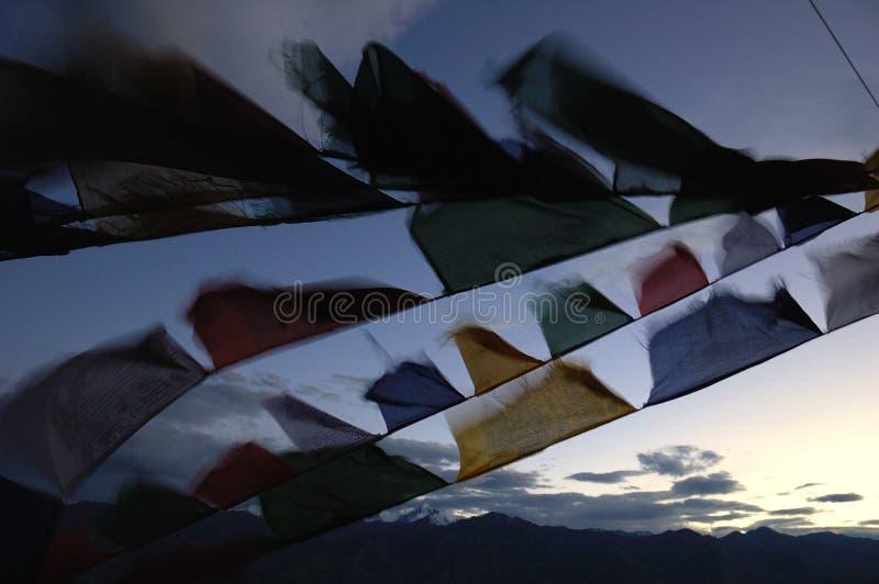 Indicadores tibetanos fotos de archivo libres de regalías
