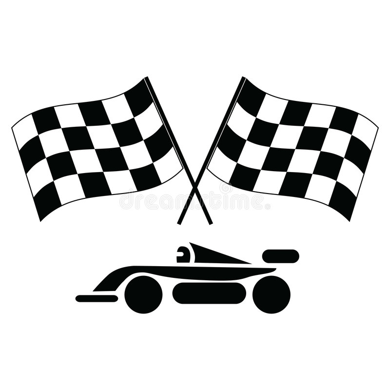 Indicadores y coche Checkered libre illustration