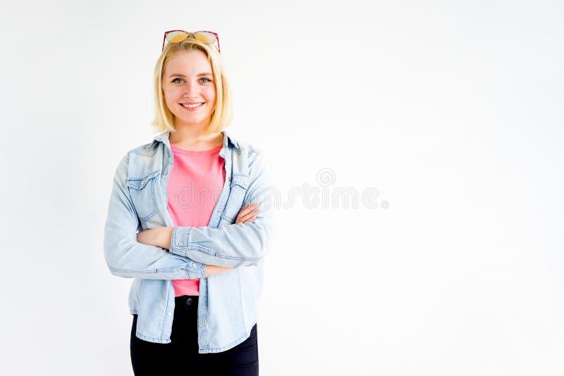Indicare alla moda della ragazza immagine stock libera da diritti