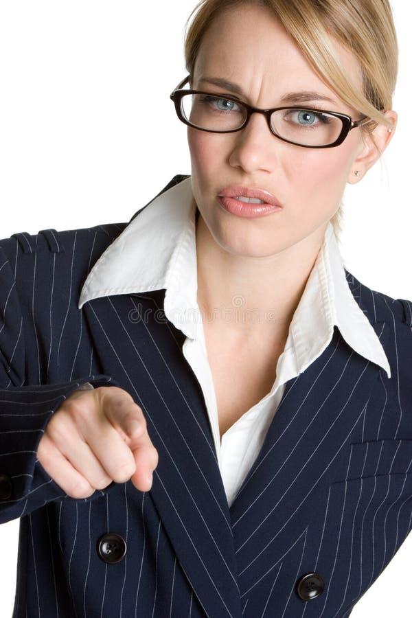 Indicare arrabbiato della donna immagini stock libere da diritti