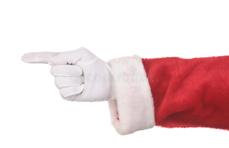 Indicare del Babbo Natale fotografia stock libera da diritti
