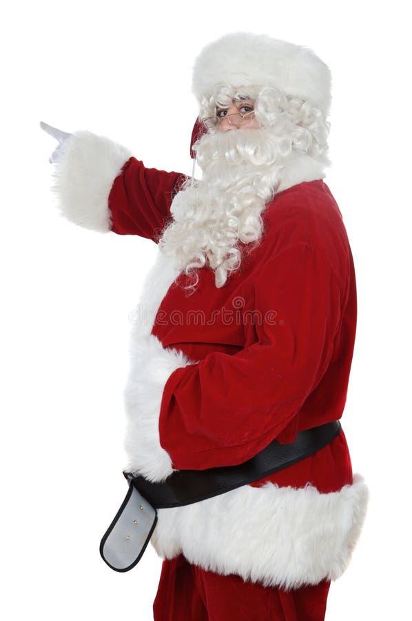 Indicare del Babbo Natale immagine stock libera da diritti