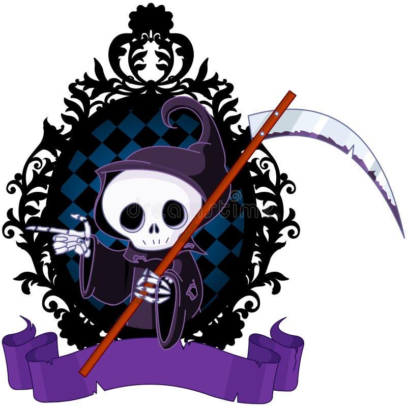 Indicare del reaper torvo del fumetto royalty illustrazione gratis