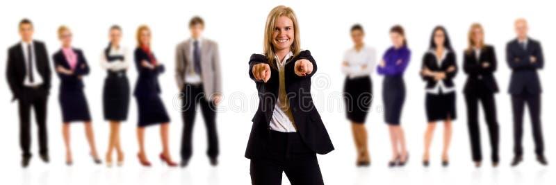 Indicare della donna di affari immagini stock