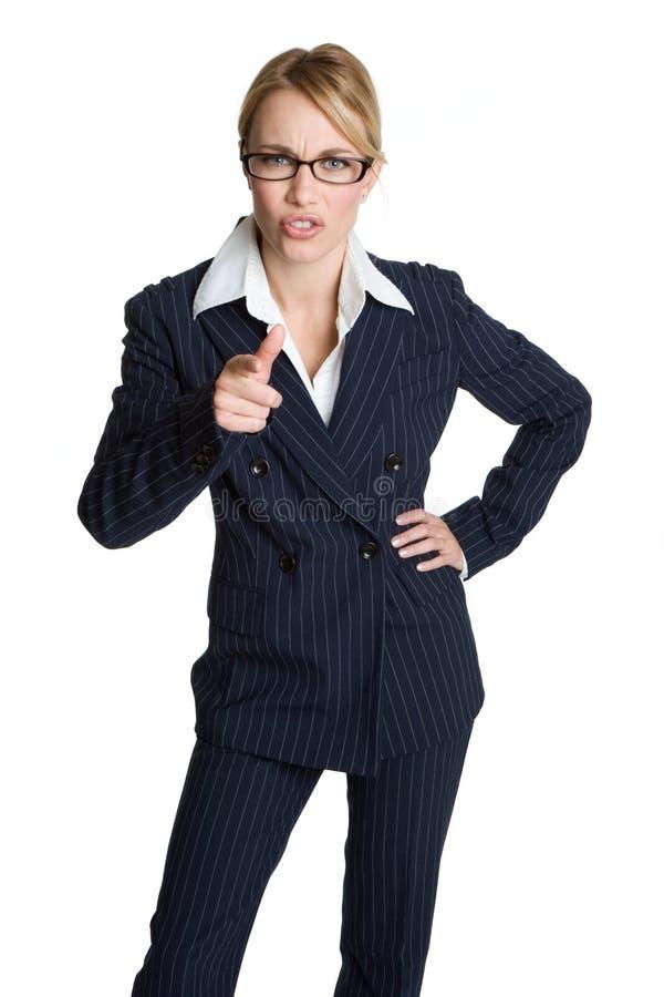 Indicare della donna di affari immagine stock