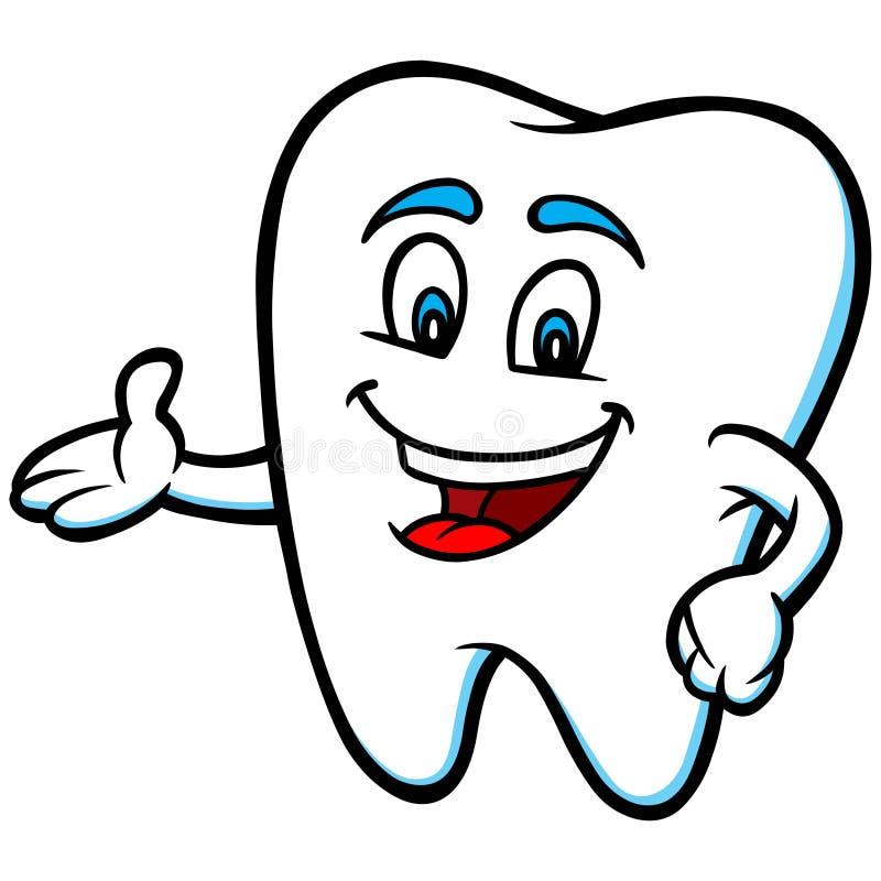 Indicare della mascotte del dente illustrazione vettoriale