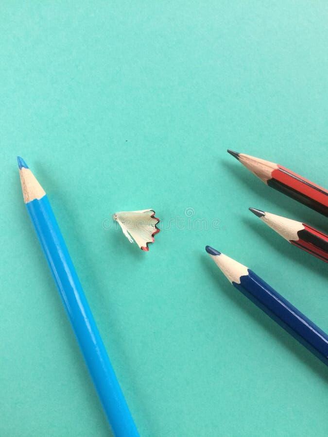 Indicare delle matite di colore fotografie stock libere da diritti
