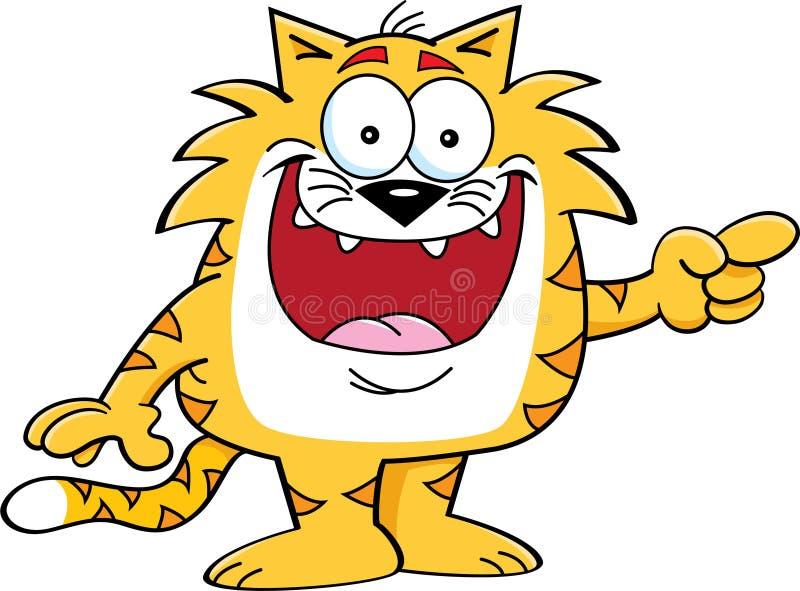 Indicare gatto royalty illustrazione gratis