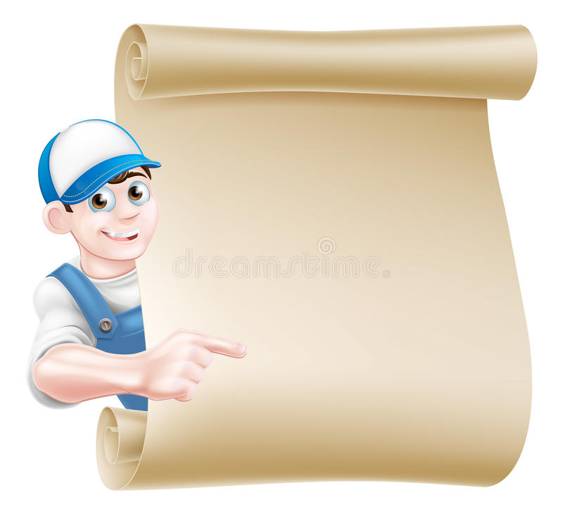 Indicare il rotolo dell'idraulico illustrazione di stock