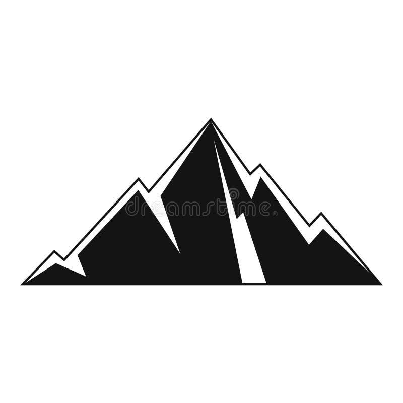 Indicare l'icona della montagna, stile semplice illustrazione vettoriale
