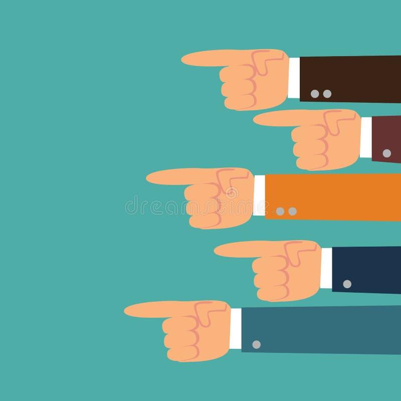 Indicare le mani Mano con indicare barretta illustrazione di stock