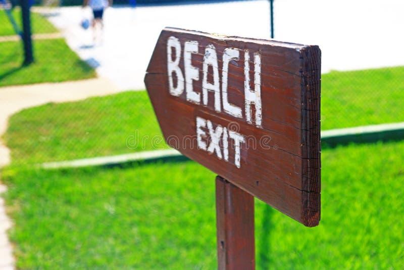 Indicateur à la plage, plan rapproché photo libre de droits