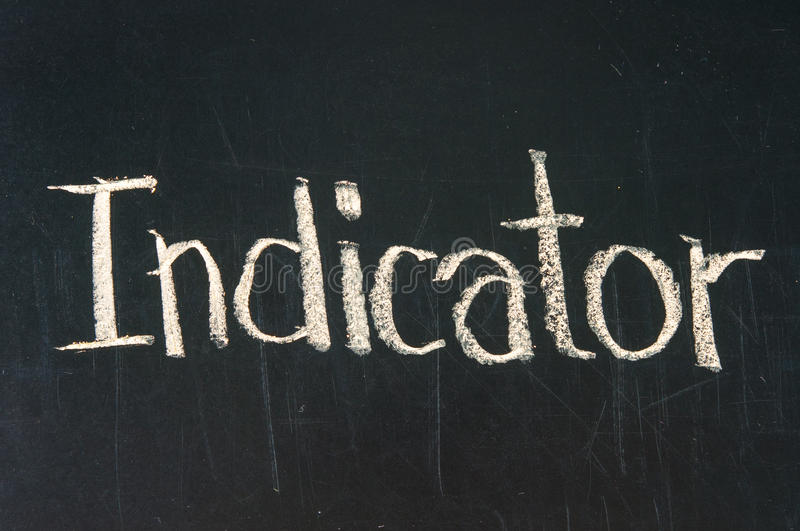 INDICATEUR photo stock