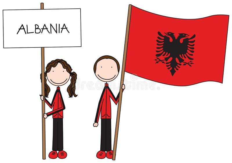 Indicateur albanais illustration stock