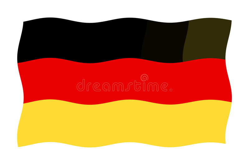 Indicateur allemand illustration stock