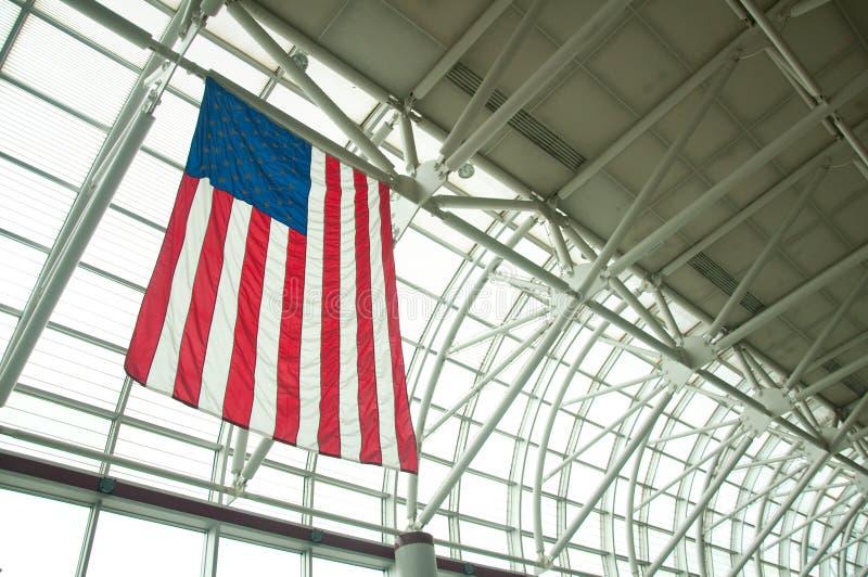 indicateur américain d'aéroport image libre de droits