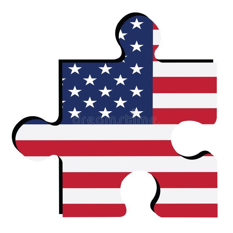 indicateur américain d'isolement illustration libre de droits