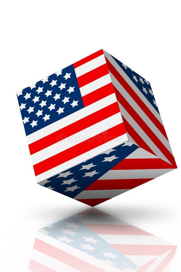 Indicateur américain le 4 juillet illustration de vecteur