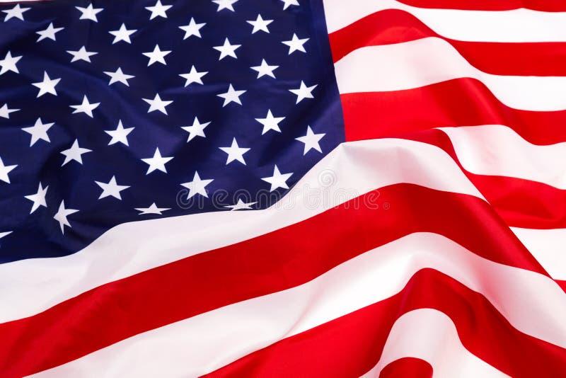 Indicateur américain sur le fond blanc images stock
