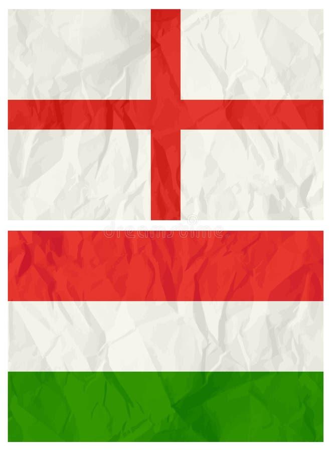 indicateur anglais Hongrie illustration de vecteur