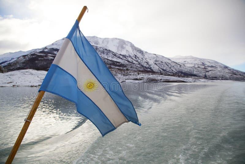 Indicateur argentin dans le Patagonia photos stock