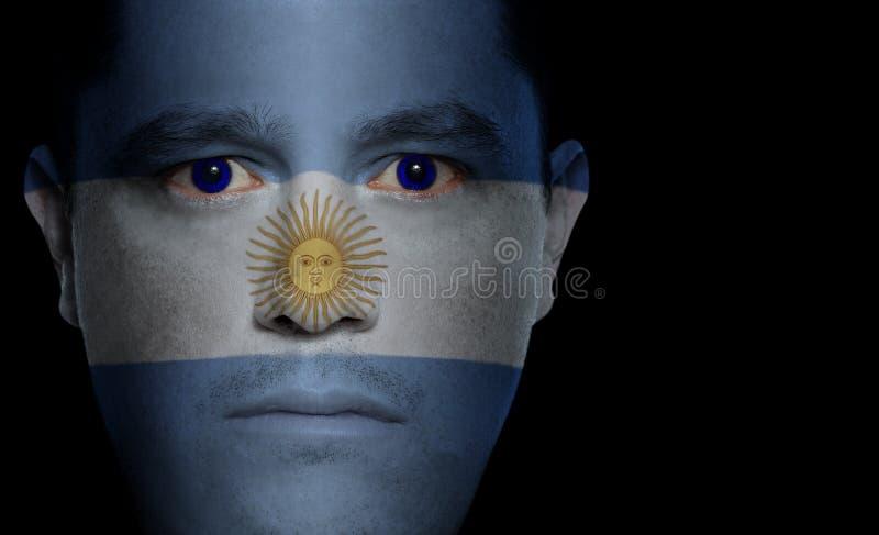 Indicateur argentin - visage mâle image libre de droits