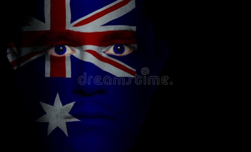 Indicateur australien - visage mâle photographie stock libre de droits