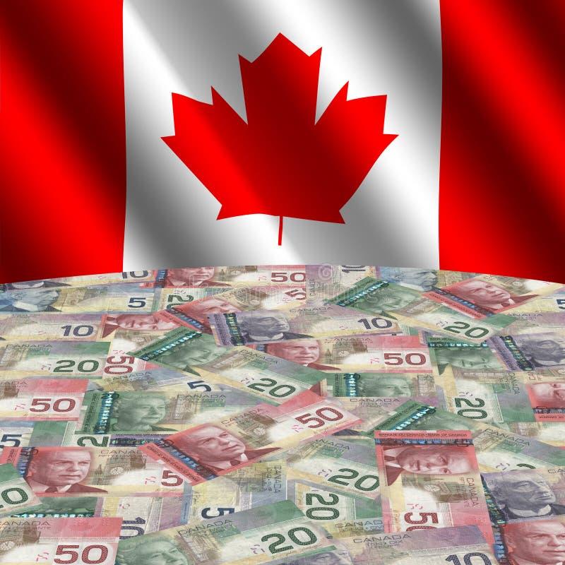 Indicateur avec les dollars canadiens