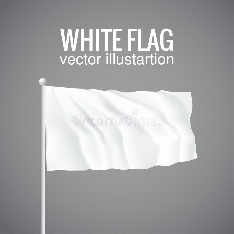 Indicateur blanc blanc 3d illustration ENV 10 illustration de vecteur