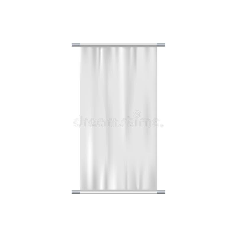 Indicateur blanc ondulant sur le vent illustration stock