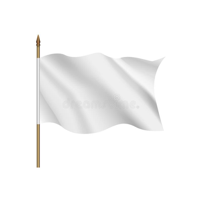 Indicateur blanc ondulant sur le vent illustration libre de droits