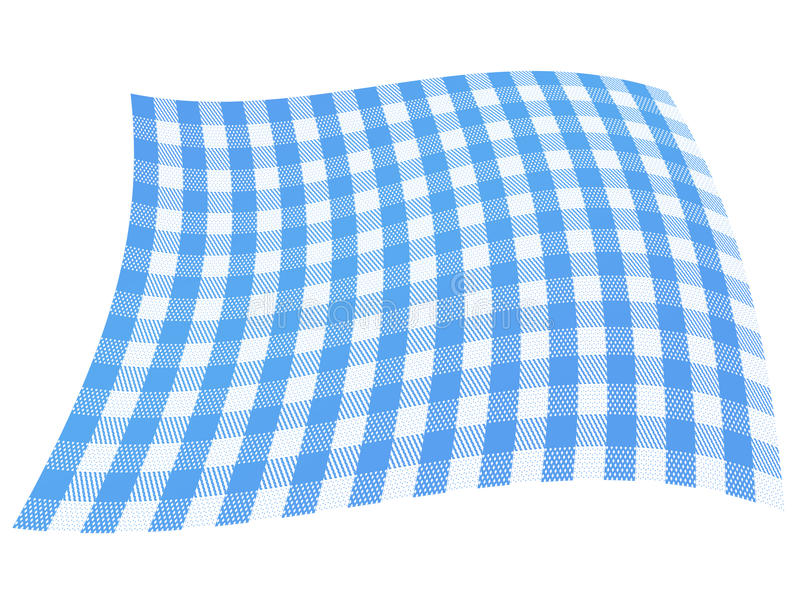 Indicateur bleu Checkered illustration libre de droits