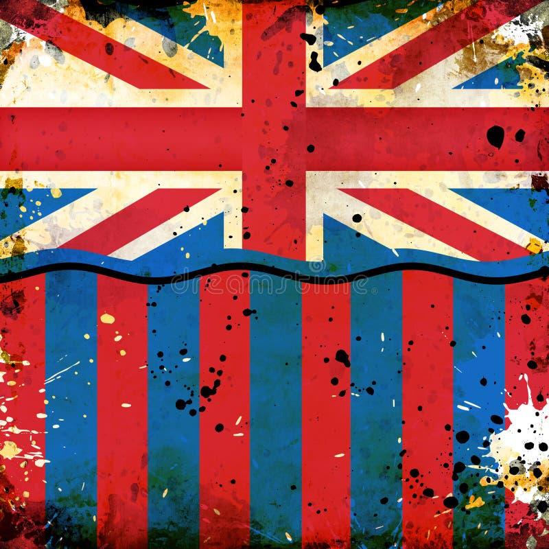 Indicateur britannique grunge illustration libre de droits