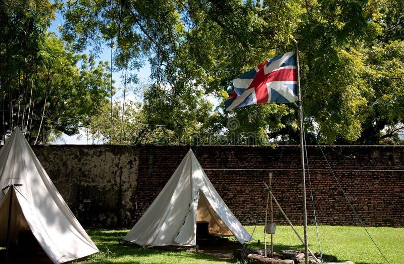 Indicateur britannique sur le fort photos stock