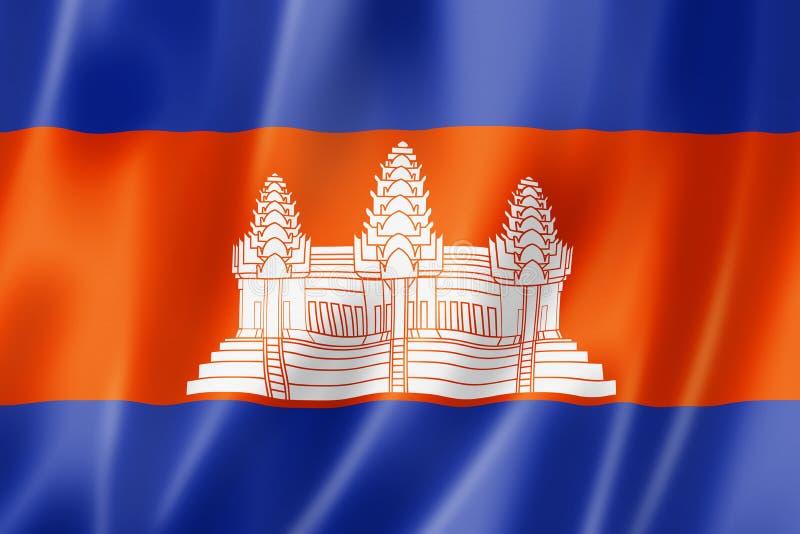 Indicateur cambodgien illustration stock