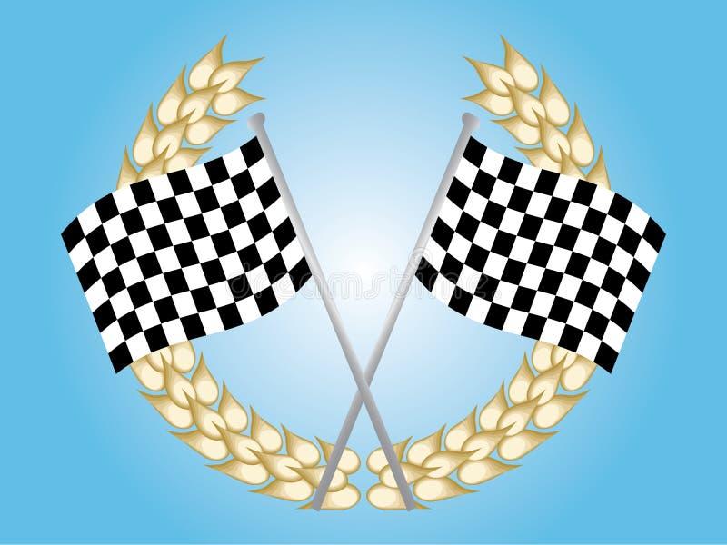 indicateur checkered illustration de vecteur