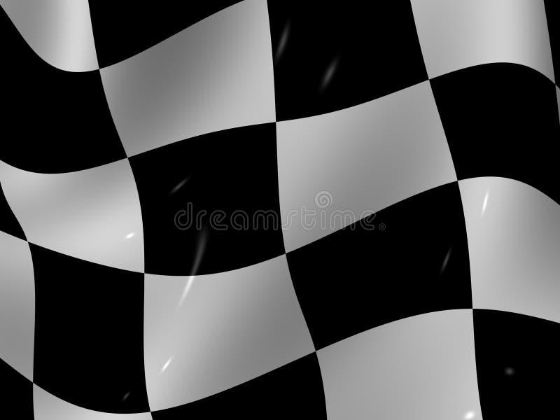 Indicateur checkered terminant illustration stock