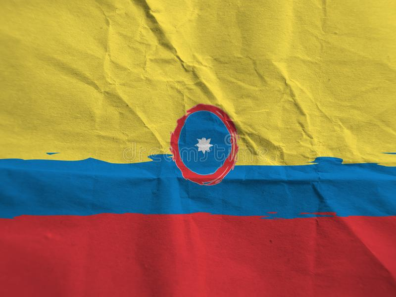 Indicateur COLOMBIA abstrait photo stock