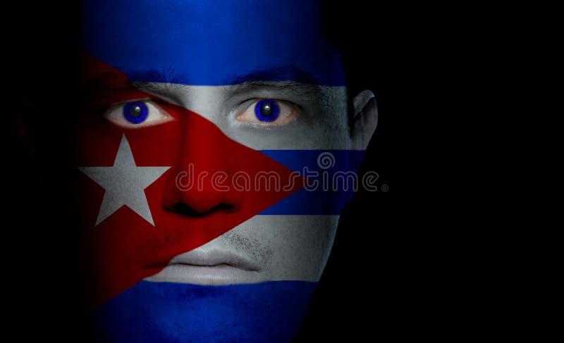 Indicateur cubain - visage mâle photographie stock libre de droits