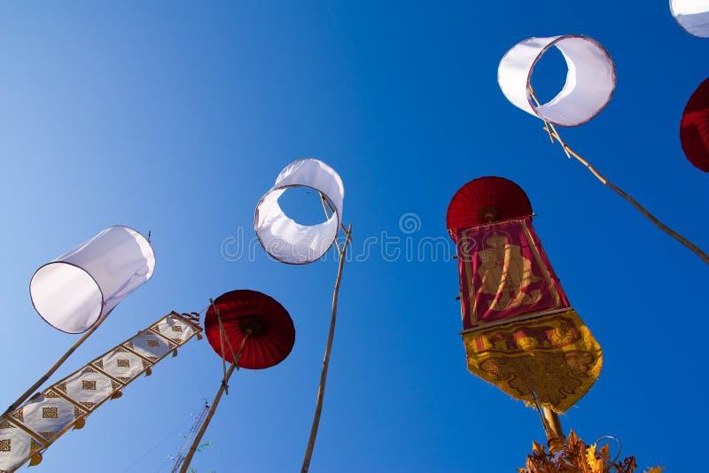 Indicateur décoratif de type thaï nordique traditionnel photographie stock