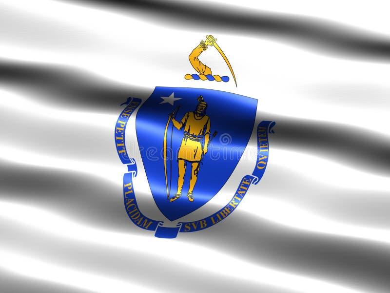 Indicateur d'état du Massachusetts illustration de vecteur