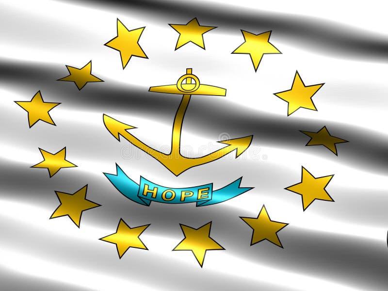 Indicateur d'état du Rhode Island illustration libre de droits